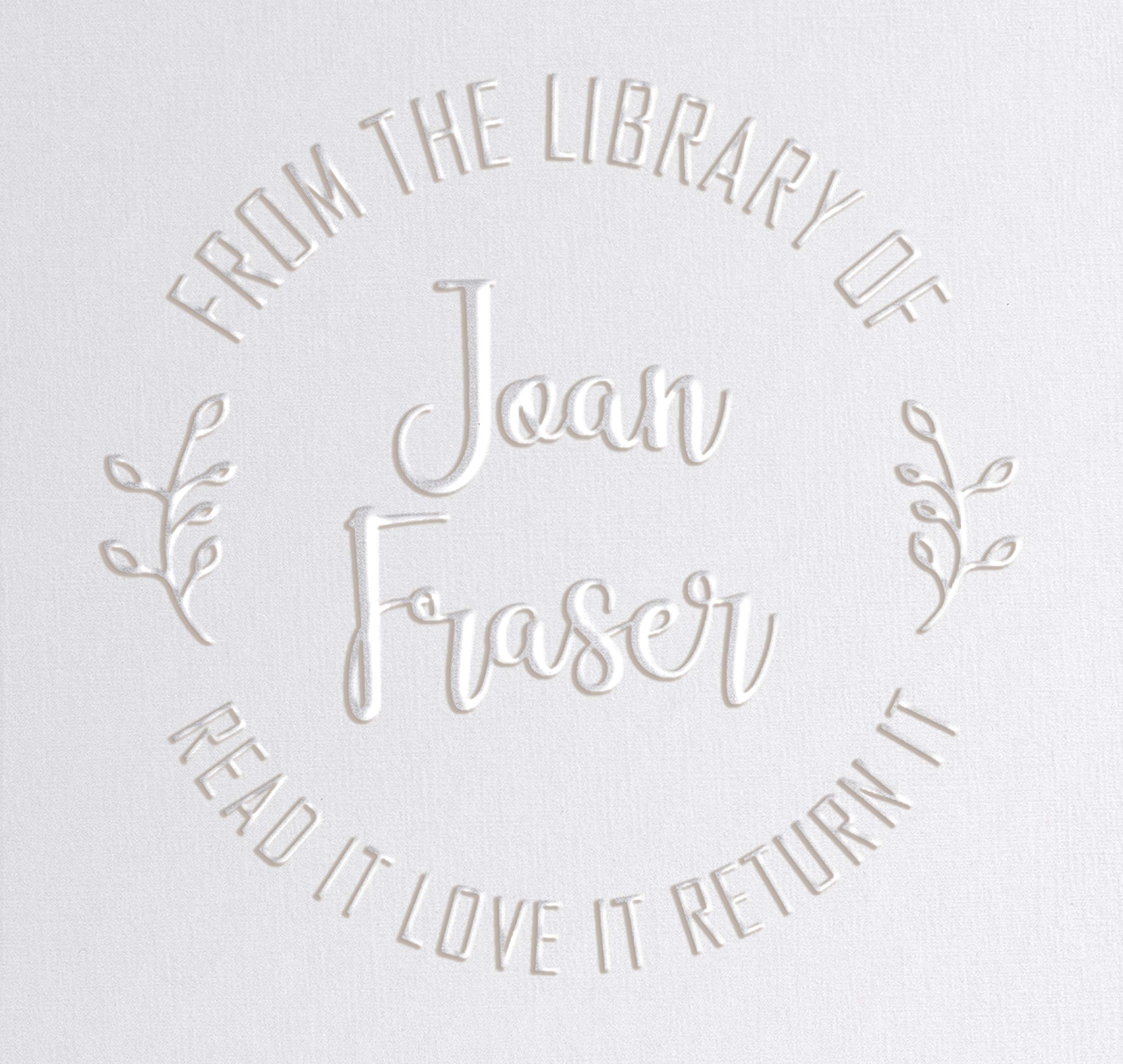 Library Book Embosser Seal Stamp Personalized Customized 1 x 5/8'' (Fern) by Pickled Stamps