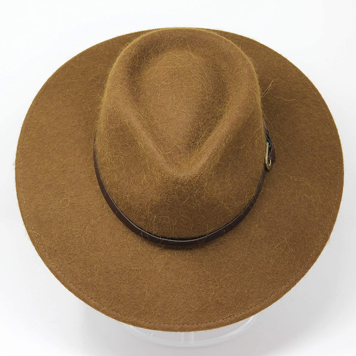 Premium Alpaca Wool Felt Water Resistant Unisex Teardrop Fedora Hat Alpaca Doyle Crushable for Travel