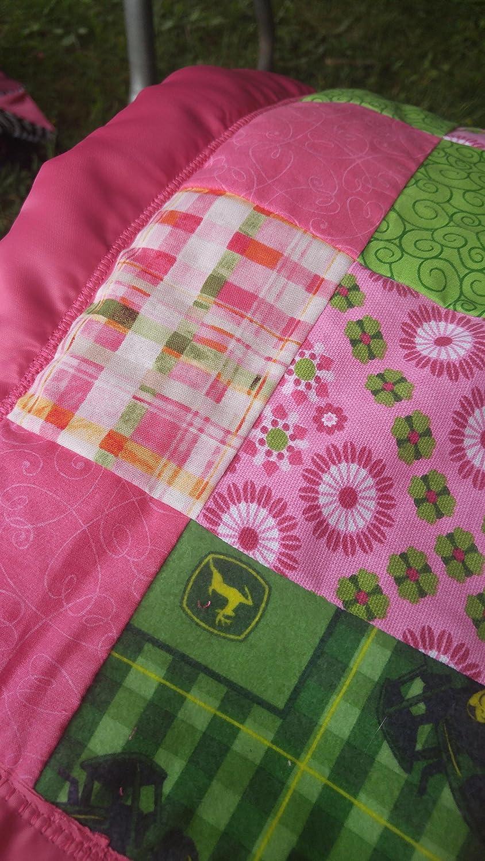 Girls John Deere Baby Quilt - Handmade