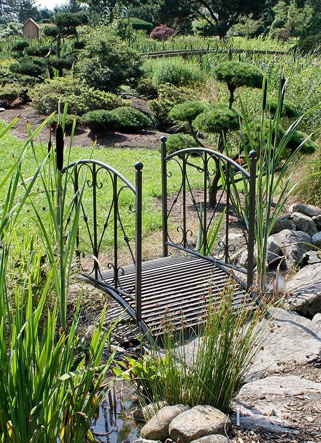 Puente de jardín de Metal, barandilla de jardín, Pozo de tejado, Pozo de jardín: Amazon.es: Hogar
