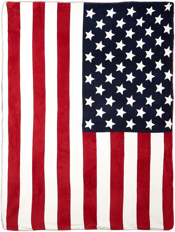 USA Flag Blanket, Ropa Interior Deportiva para Hombre, Crema, Talla única U.S.Polo Association