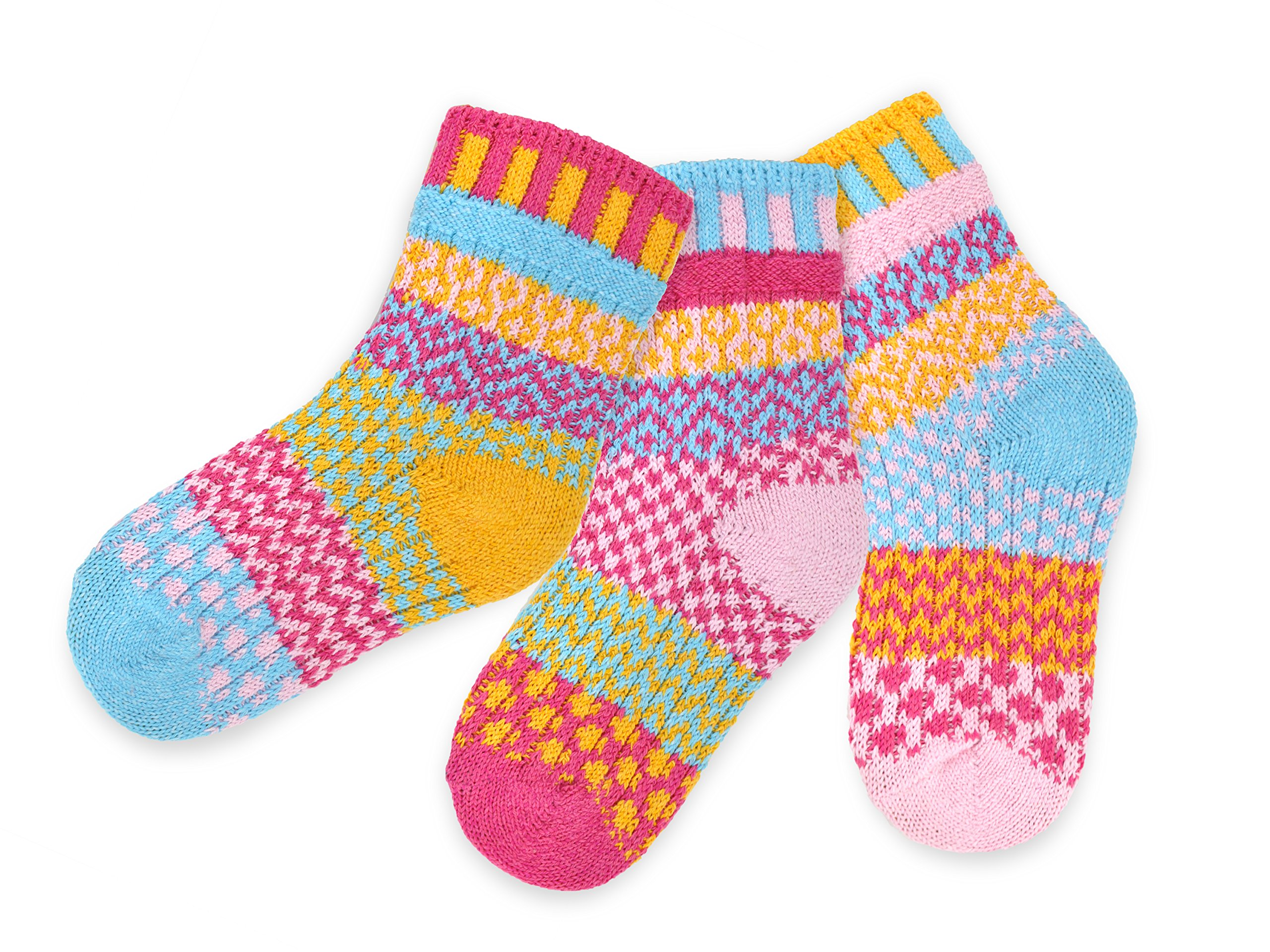 Solmate Socks, Mismatched Kids socks, A pair with a spare, Cuddle Bug Medium