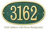 Metal Address Plaque Personalized Cast with Oval