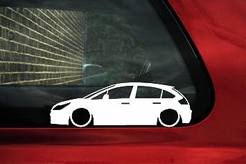 bajar de silueta de coche - adhesivo para Citroën C4 VTI, VTS 5 puertas 1st Gen: Amazon.es: Coche y moto