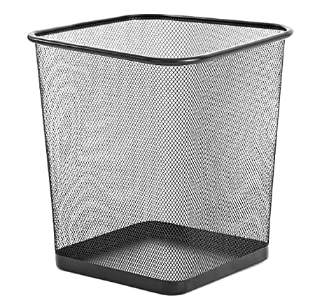Wire Waste Basket | Zuvo Metal Wire Mesh Waste Basket Garbage Trash Can For Office Home