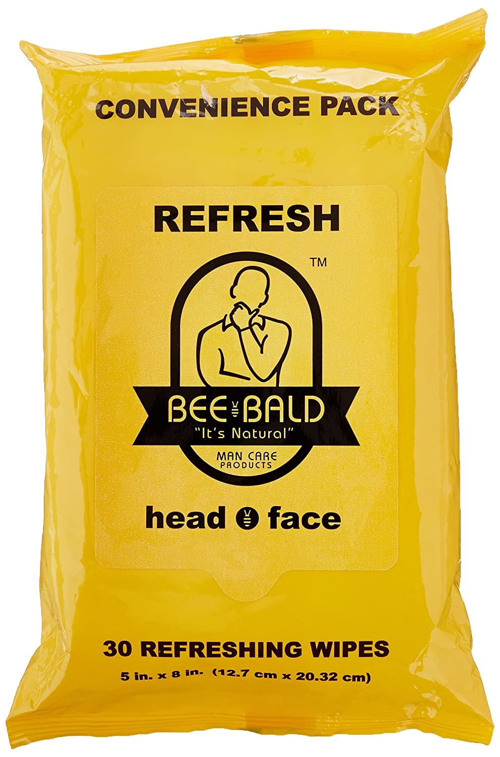 Bee B014E9JBN4 Bee Bald Refresh Bald Head and Face Wipes 30 wipes by Bee Bald B014E9JBN4, 伊勢志摩の真珠専門店 IsowaPearl:fc142228 --- ijpba.info
