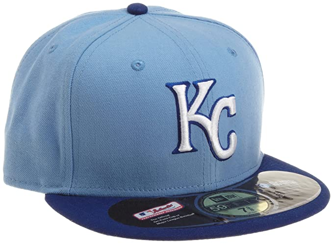 huge discount 46dbf ca076 MLB Kansas City Royals Authentic On Field Alternate 59Fifty Fitted Cap, Sky  Blue, 7