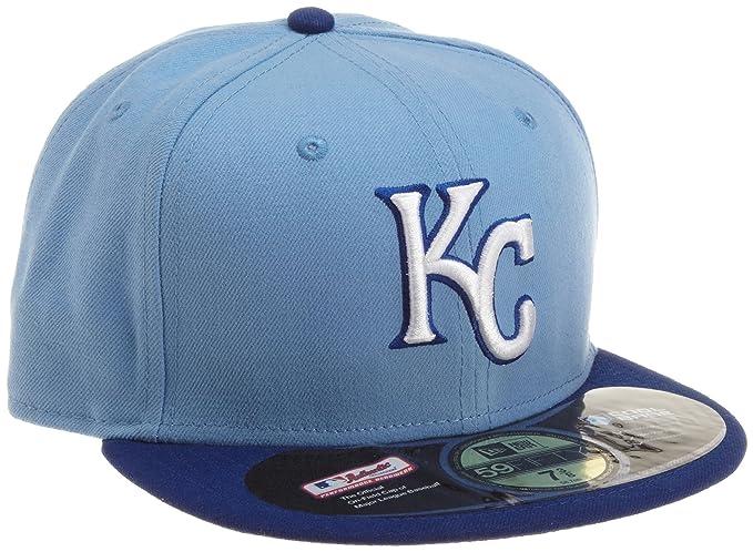 ab2195b65ffba1 Amazon.com : MLB Kansas City Royals Authentic On Field Alternate 59Fifty  Fitted Cap, Sky Blue : Sports Fan Baseball Caps : Clothing