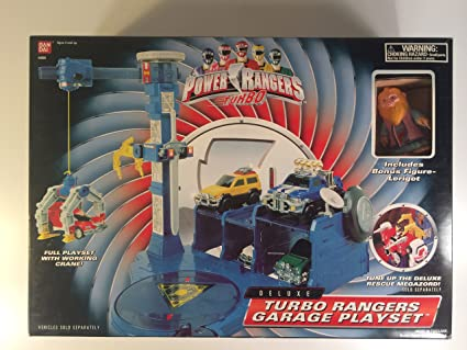 Deluxe Power Rangers Turbo Turborangers Garage Playset Super Sentai Carranger