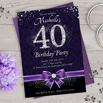 40th birthday party invitations or personalise for any age 21st