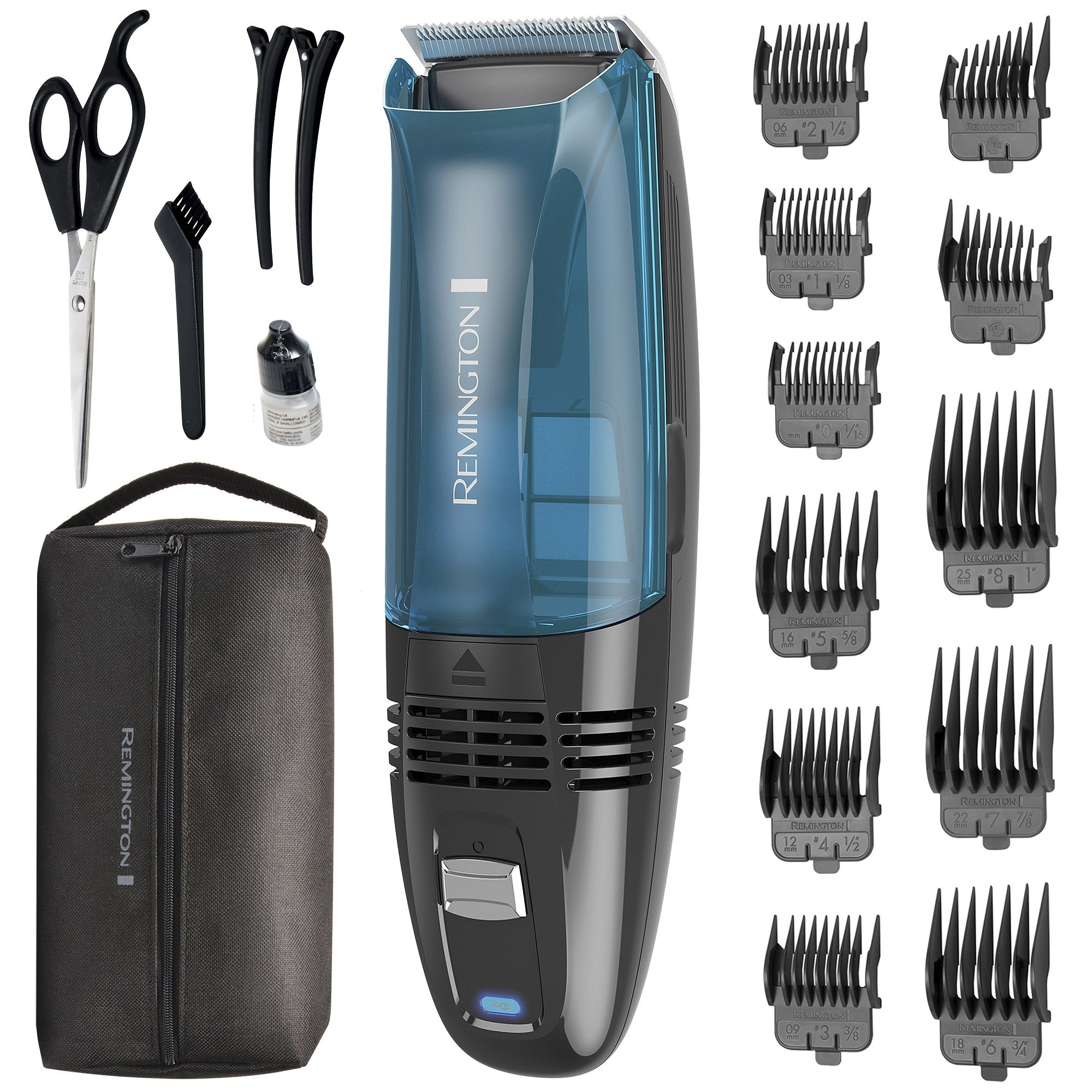 Remington HC6550 Cordless Vacuum Haircut Kit, Vacuum Trimmer, Hair Clippers, Hair Trimmer, Clippers by Remington