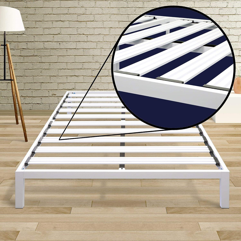 Best Price Mattress Model C Steel Heavy Duty Steel Slats Platform Bed Frame Twin XL//Box Spring Replacement//Mattress Foundation//Bed Raiser