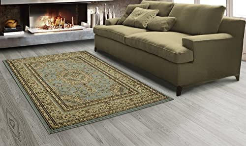 Sweet Home Stores King Collection Isfahan Oriental Medallion Design Area Rug, 5 3 x7 , Seafoam