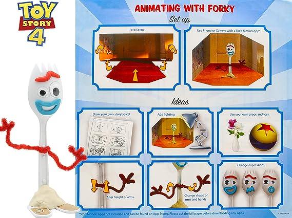Disney Toy Story 4 Haz Tu Propio Estilo con Escena | Juego De Manualidades con 3 Tipos De Plastilina, Modelo De Tenedor Y Accesorios | Actividades De ...
