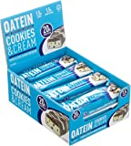 Oatein High Protein Low Sugar and Low Carb Bar, Cookies & Cream, Box of 12x60g