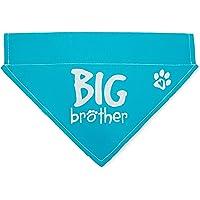 Pavilion's Pets Gift Company Big Brother Blue Paw Print Large Dog Slip on The Collar Bandanna,