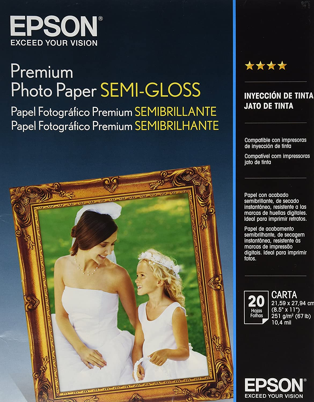 Epson Premium Semigloss Photo Paper - Papel fotográfico (97%, 251 ...