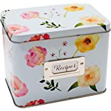 Heart&Berry Recipe Box With Cards And Dividers - Includes 24 4x6 Recipe Cards And 12 Dividers - Recipe Cards And Box Set - Co