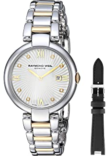 Raymond Weil Womens Shine Quartz Watch with Stainless-Steel Strap, Two Tone, 13.5