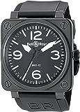 Bell & Ross Men's BR01-92CARBON Aviation Black Rubber Strap Watch