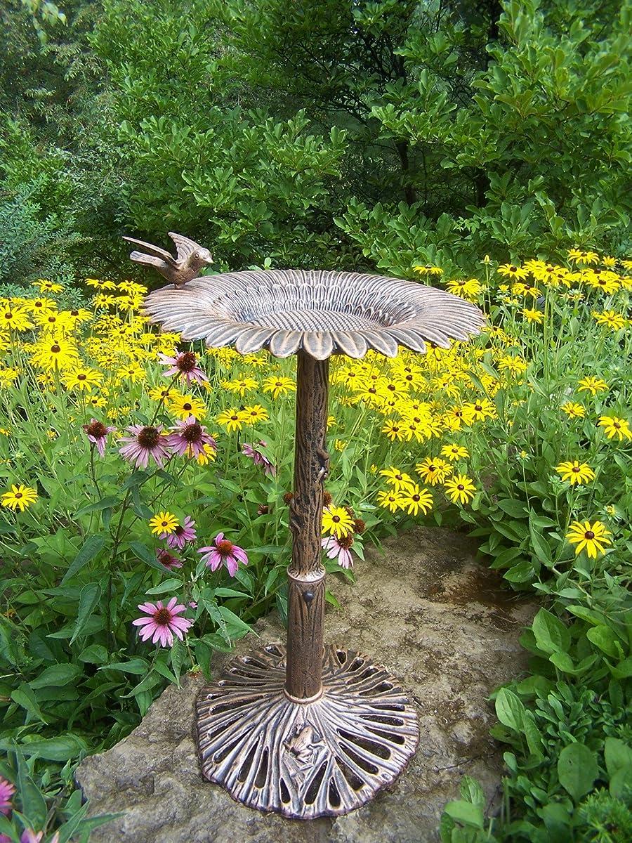 Oakland Living Sunflower Bird Bath