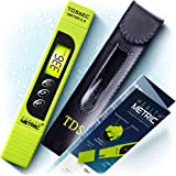 TDS Meter Digital Water Tester - 3 in 1 ppm EC and Temperature Test Pen | Easy to Use Water Purity Tester | Ideal for…