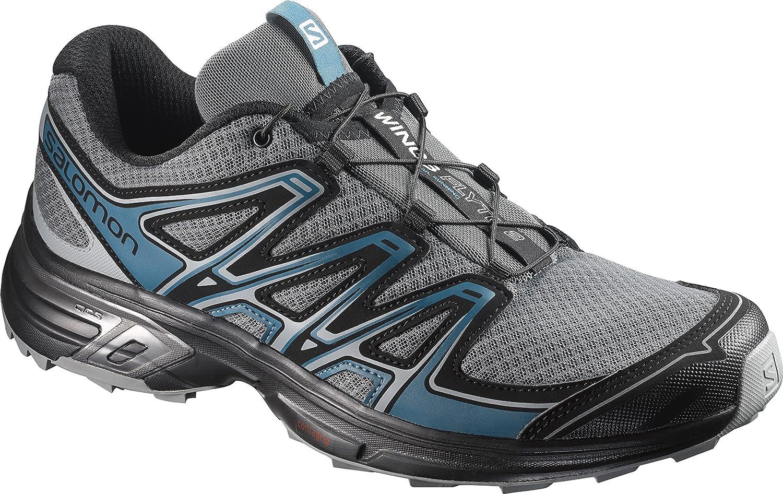 Salomon Wings Flyte 2, Calzado de Trail Running para Hombre 43 1/3 EU|Gris (Quiet Shade/Black/Mallard Blue)