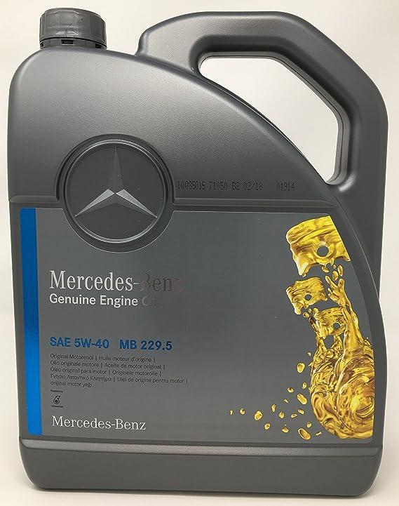 Original Mercedes Benz Motoröl Öl 5w40 5w 40 Mb 229 5 5l 5 Liter 000989920213 Auto