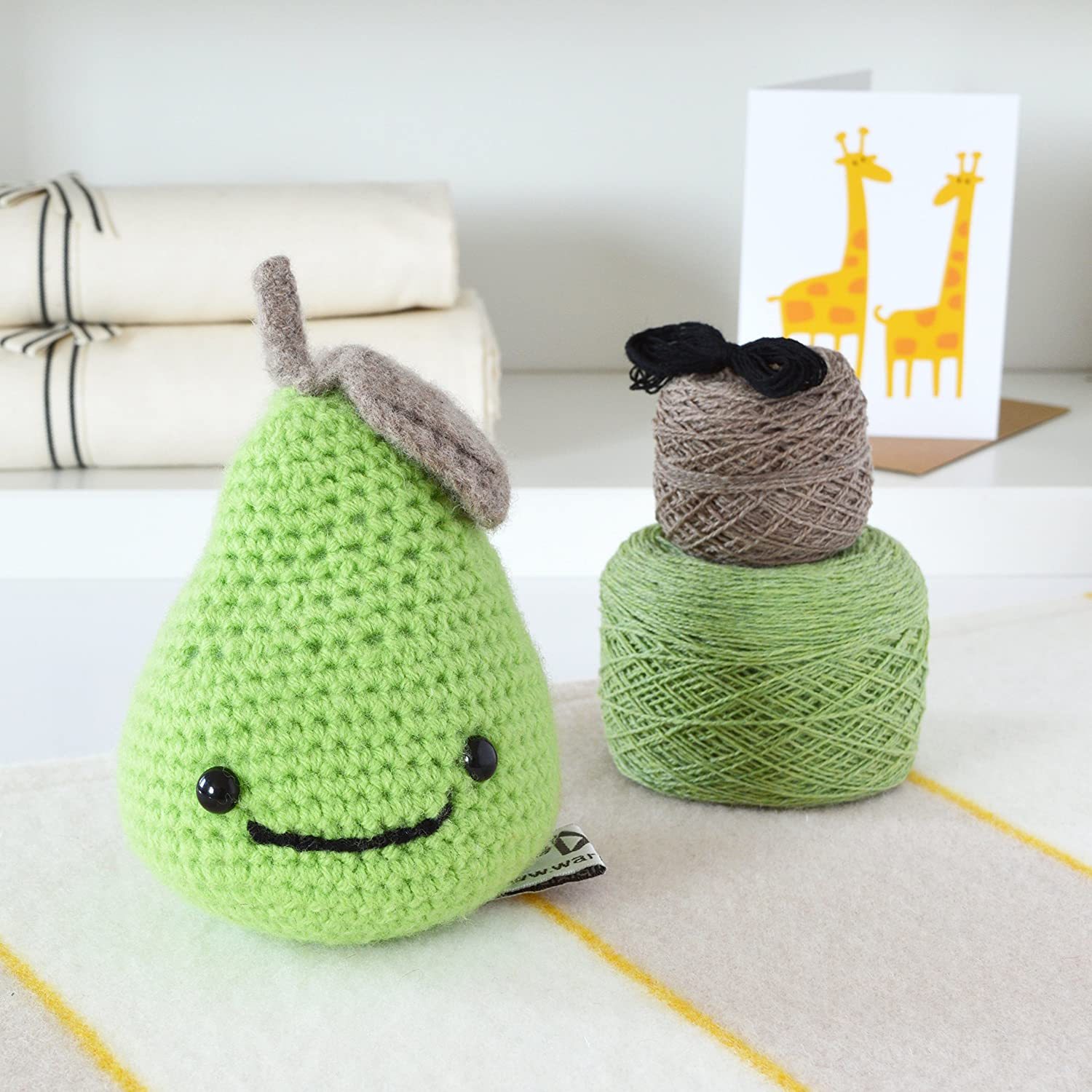 DIY Kit de ganchillo, lujo Smiley pera Amigurumi Kit para tejer de ganchillo, DIY Kits Crochet: Amazon.es: Hogar