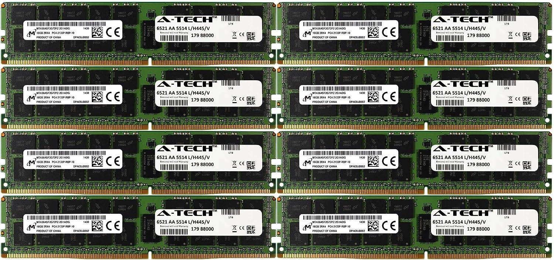 A-Tech Micron IC DDR4 128GB Kit 8X 16GB 2Rx4 PC4-17000 2133MHz Dell PowerEdge R730xd R730 R630 T630 R430 R530 C4130 SNP1R8CRC/16G A7910488 A7945660 370-ABUK SNP1R8CRC/16G-A1 RDWTP 01R8CR Memory RAM