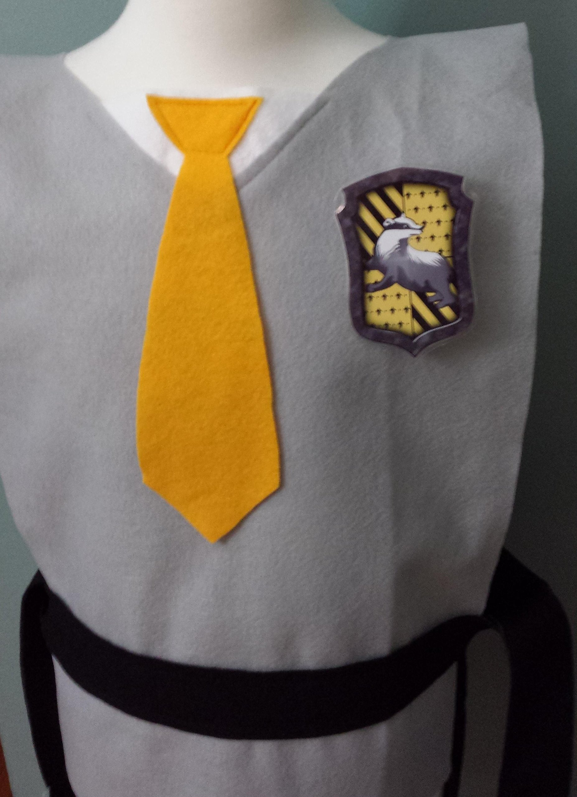 Kids Hufflepuff Costume Tunic - Perfect for under your robe! (Harry Potter/Cedric/Hogwarts) - Baby/Toddler/Kids/Teens/Adult Sizes