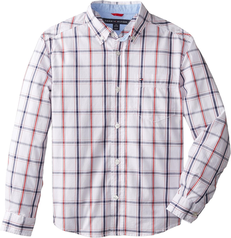 Tommy Hilfiger Boys Corbin Woven Long Sleeve Shirt
