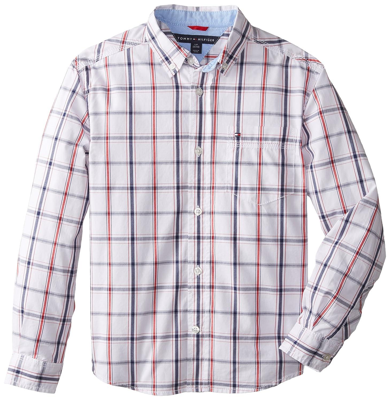 Tommy Hilfiger Boys'Long Sleeve Plaid Woven Shirt Long Sleeve Button Down Shirt