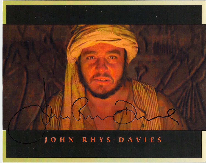 John Rhys-Davies unterzeichnet 25,4x 20,3cm Farbe Foto–Raiders of the Lost Ark–Herr der Ringe–100% Echtheit garantiert–in Person Dealer, UACC Registriert # 242