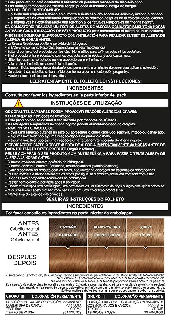 LOreal Paris Prodigy Coloración Permanente, Tinte Sin Amoníaco, Color 7.31 Camel - 200 gr