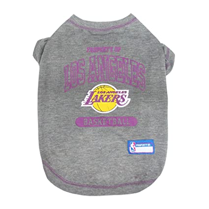 5b90f1c70e5 Amazon.com   NBA Los Angeles Lakers T-Shirt for Dog
