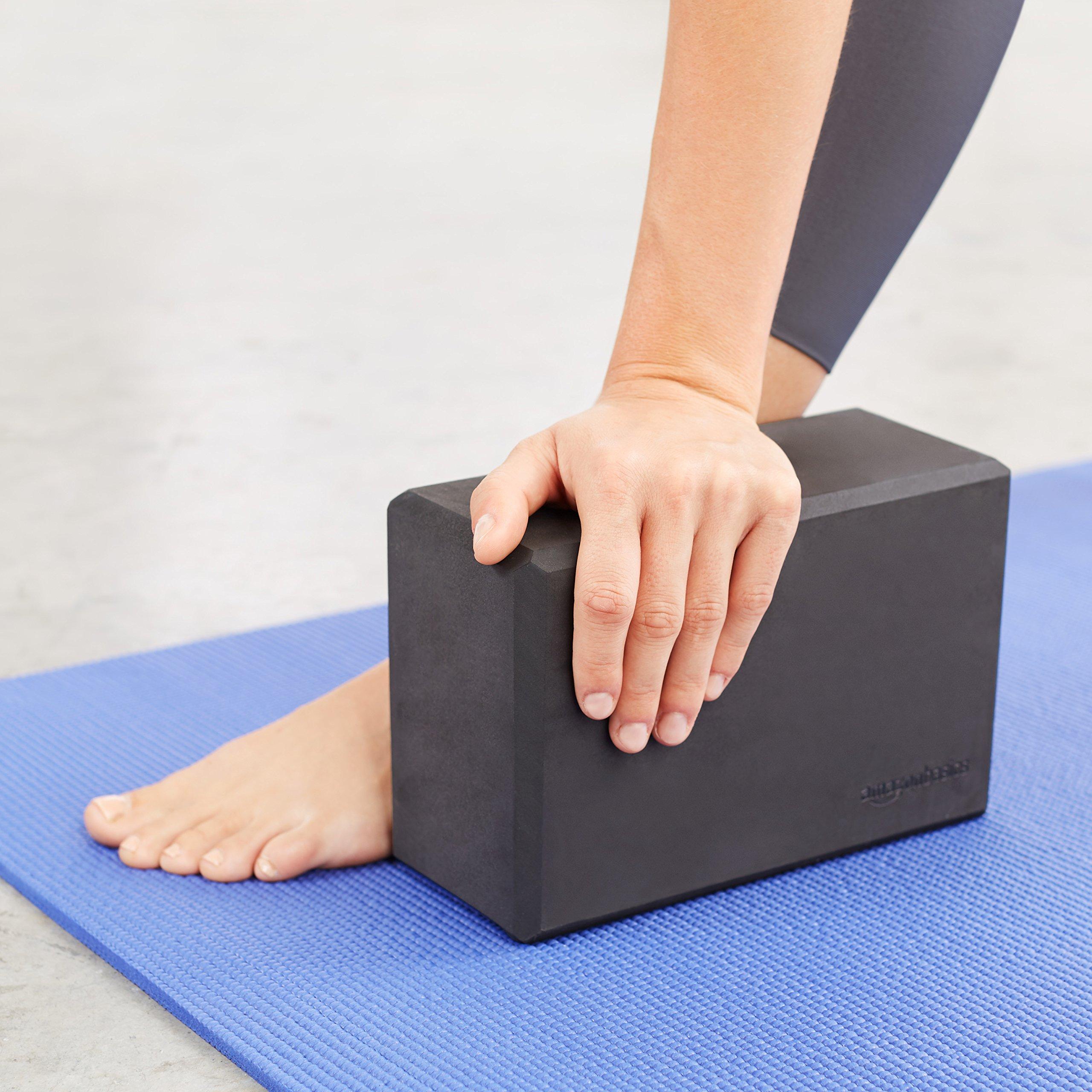 AmazonBasics Foam Yoga Blocks - 4 x 9 x 6 Inches, Set of 2, Black by AmazonBasics (Image #2)