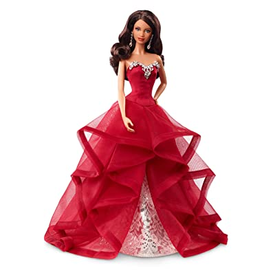 Barbie Collector 2015 Holiday Doll, Brunette: Toys & Games
