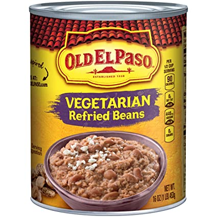 Old El Paso Refried Beans, Vegetarian, 16 oz Can