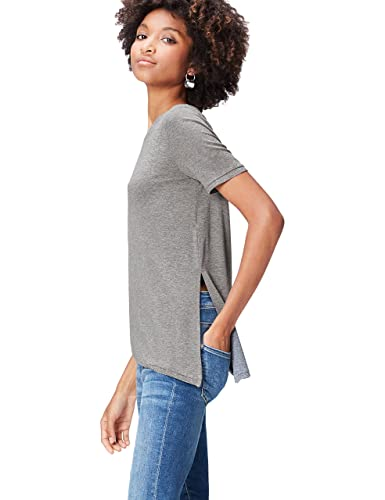 FIND T-Shirt Asimmetrica a Manica Corta Donna
