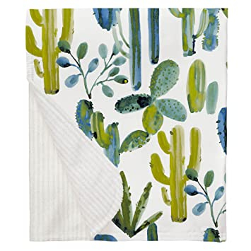 Carousel Designs Green Painted Cactus Crib Comforter