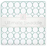 SwaddleDesigns Ultimate Swaddle Blanket, Made in