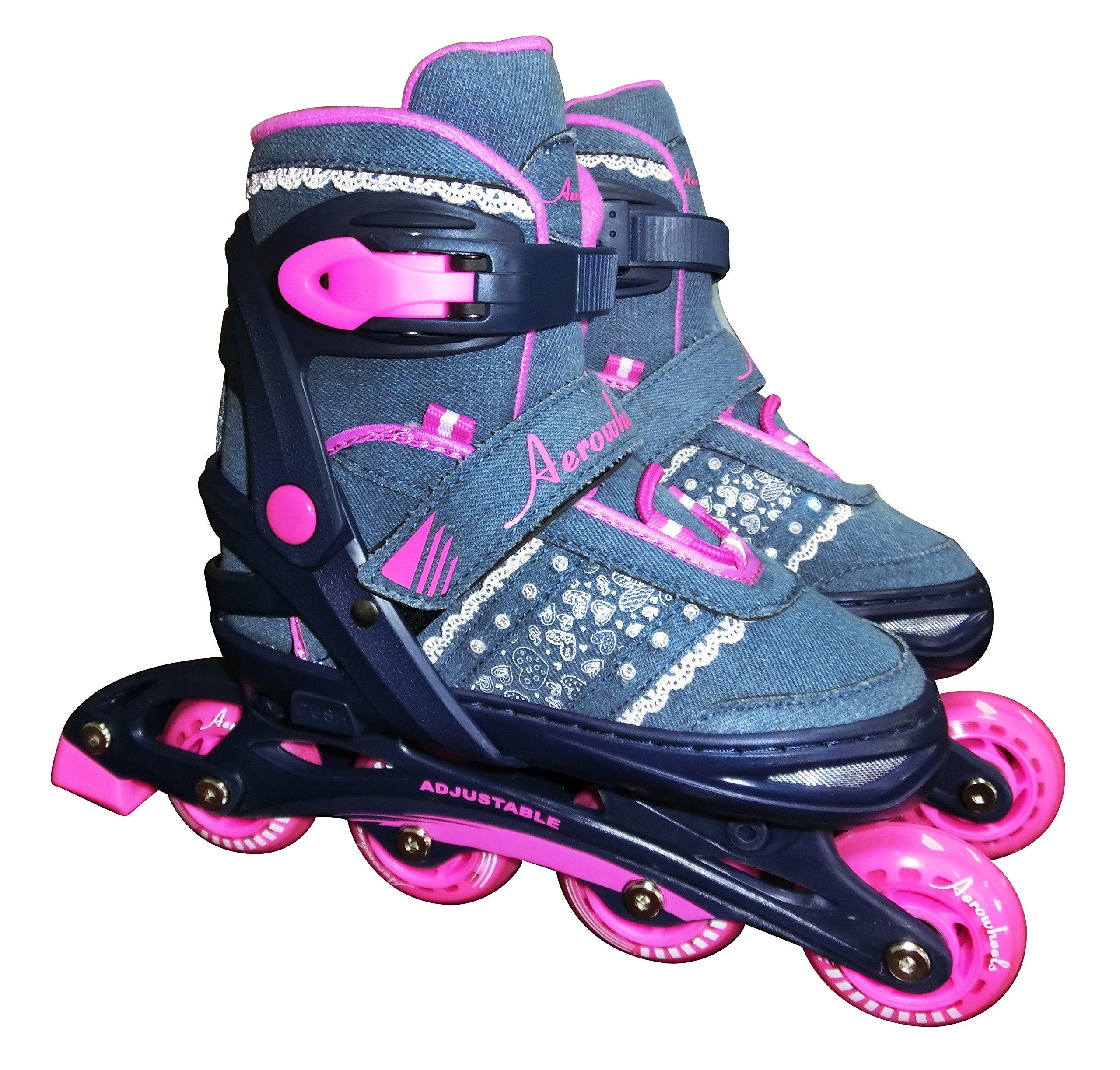 JNJ Aerowheels Kids Denim Inline Skates, Denim Blue, One Size