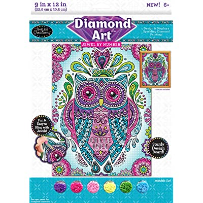 Timeless Creations Diamond Art Jewel by # Mandala 9 X 12: Toys & Games