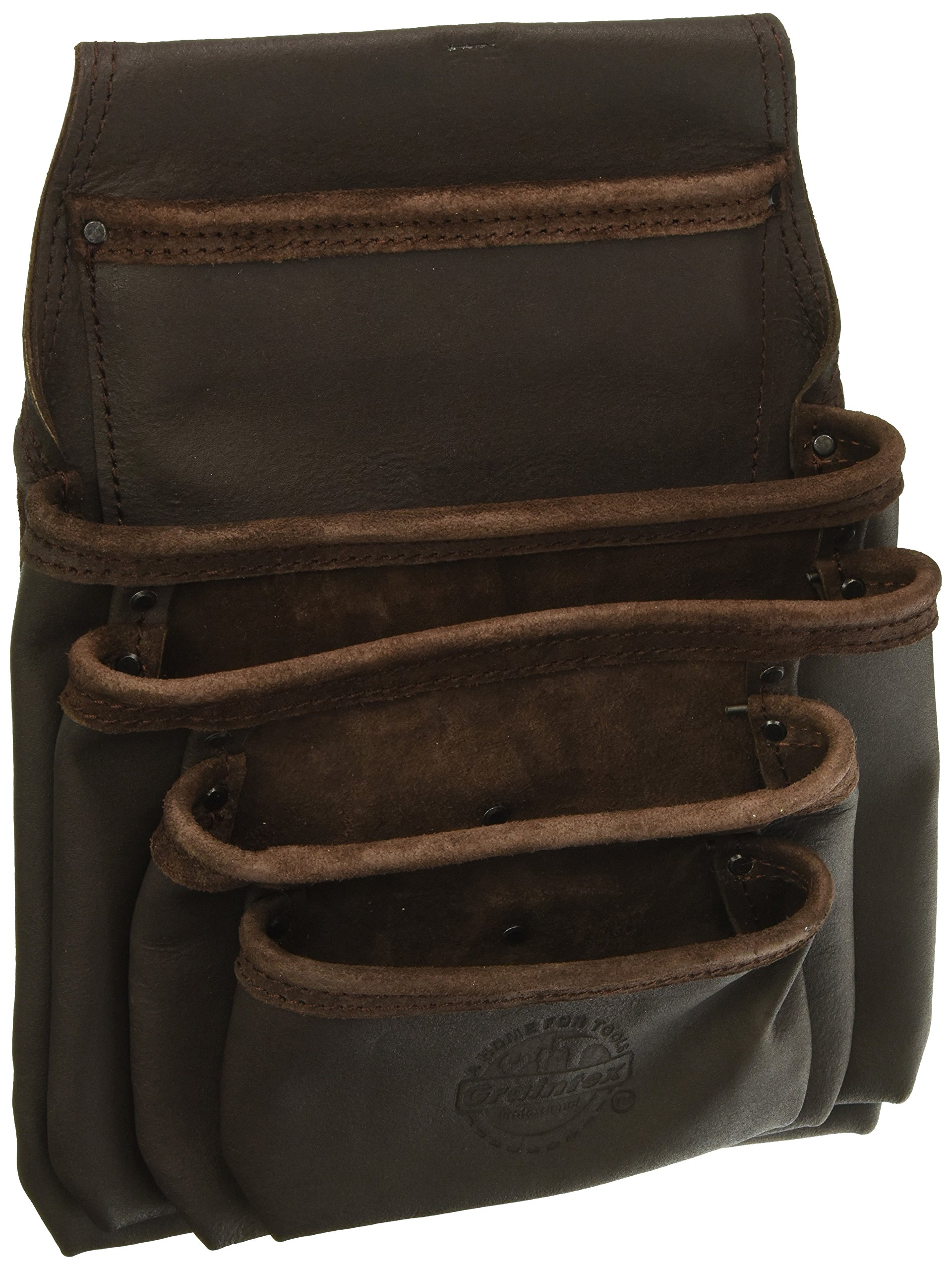 Graintex OS2052 5 Pocket Oil Tanned Leather Nail & Tool Pouch