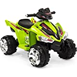 Best Choice Products 12V Kids Powered Ride On ATV Quad 4 Wheeler Led Lights, Music (Green)