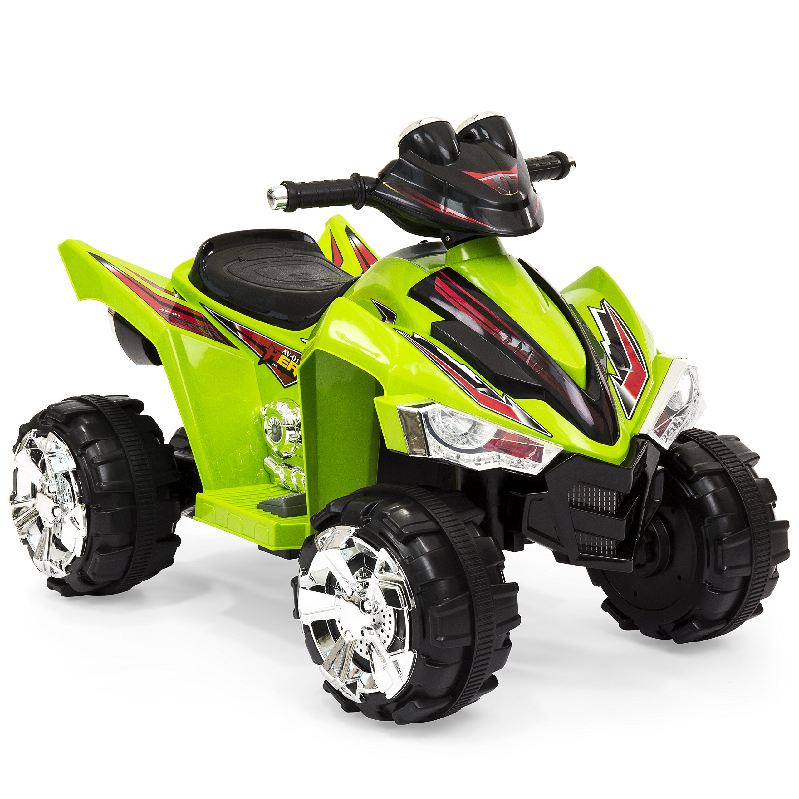 Best Choice Products 12V Kids Powered Ride On ATV Quad 4 Wheeler Led Lights, Music (Green) by Best Choice Products