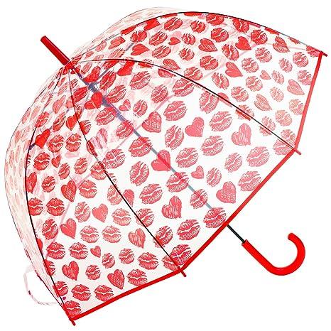 susino Clear Dome – Paraguas de labios y corazones