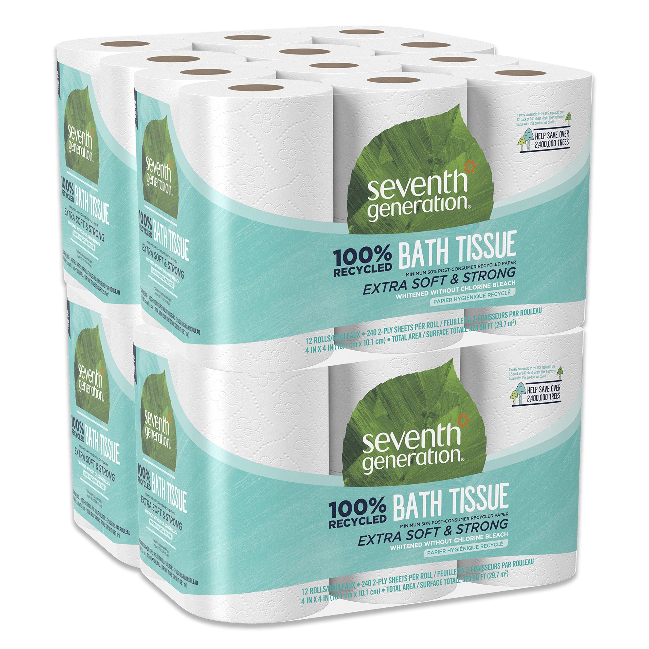 Seventh Generation Toilet Paper, Bath Tissue, 100% Recycled Paper, 48 Count by Seventh Generation