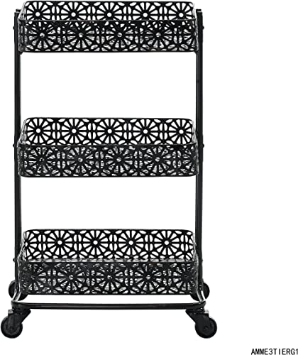 3-Tier Cart in Black Finish